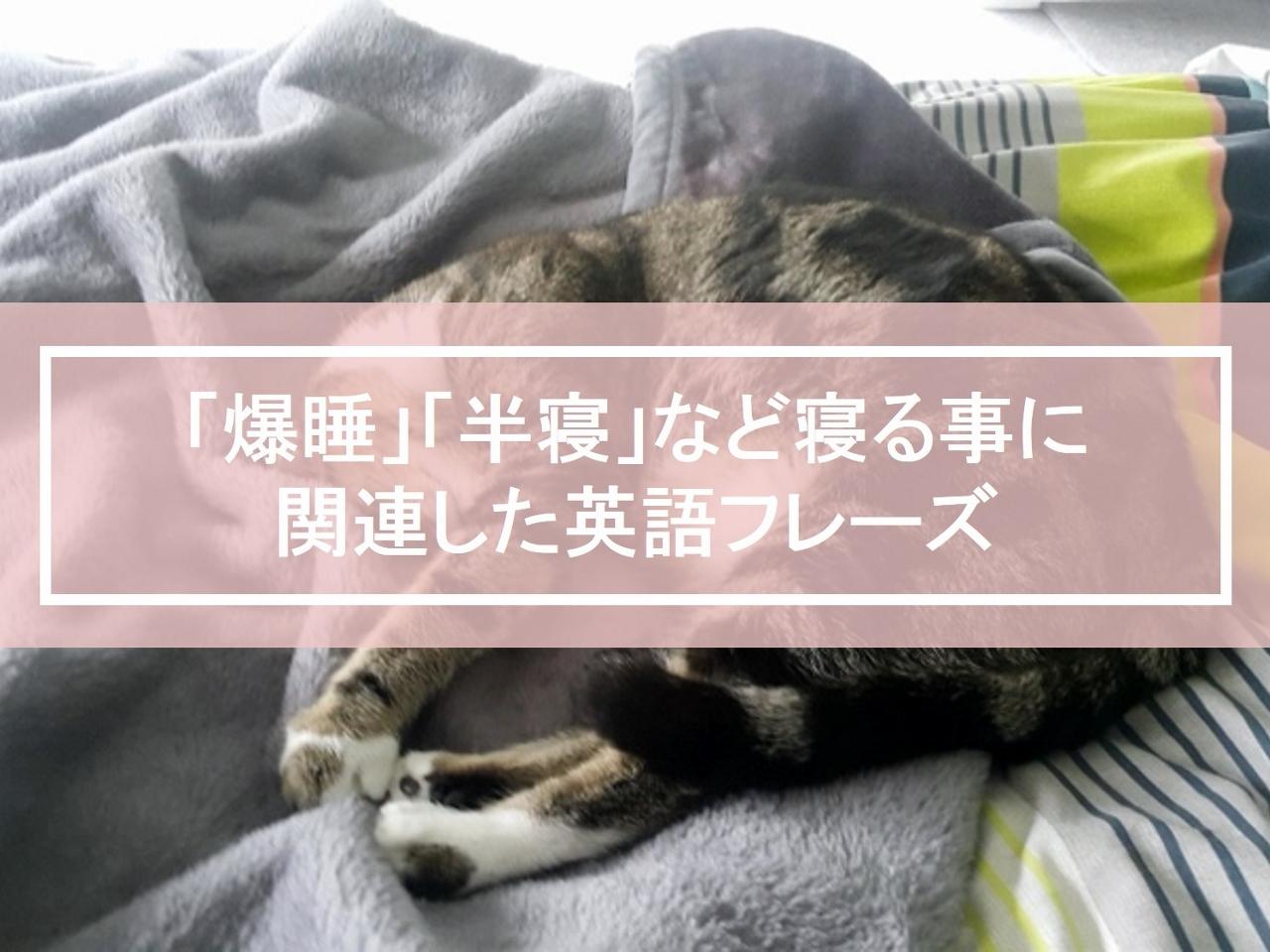 「爆睡」「半寝」など寝る事に関連した英語フレーズ