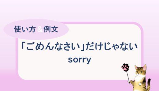 「ごめんなさい」だけじゃない!sorry の色々な使い方と例文