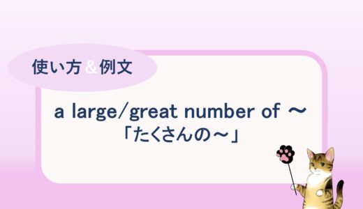 a large / great number of ~「たくさんの ~」の使い方と例文