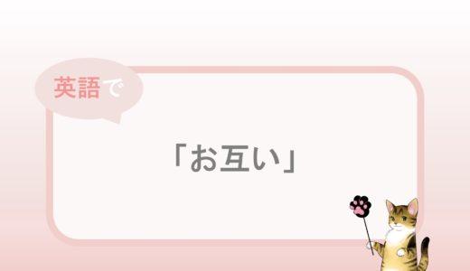 each other「お互い」という英語表現と例文